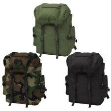 vidaXL Mochila Militar Tamaño XXL Capacidad 65 L Colores Negro/Verde/Camuflaje