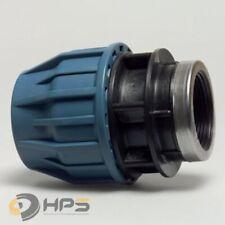 PE Rohr Verschraubung mit Innengewinde in verschied. Größen, DVGW Trinkwasser