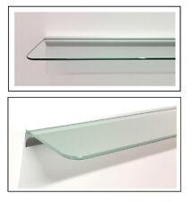 Glasregal Glas satiniert klar mit Profil silber 6 Größen angerundete Ecken ROY15