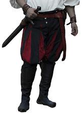 Pantalon noir et rouge bouffant, renaissance noble mercenaire landsknecht gn