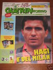 GUERIN SPORTIVO 1990/8 INSERTO MONDIALI ITALIA/AUSTRIA HAGI ZICO STROMBERG KNORR