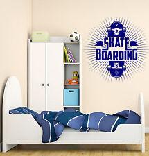 Wall Vinyl Decal Skateboarding Extreme Sports Skateboard Deck  z4735