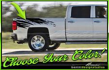 2007-2017 Chevy Silverado GMC Sierra Denali Tear Bed Side Stripes Graphics #2