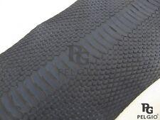 PELGIO Real Genuine Masked Water Snake Belly Skin Leather Hide Pelt Blue Grade A