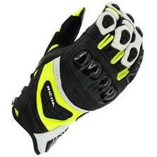 Richa Stealth Black / White / Yellow Motorbike Leather Sports Gloves