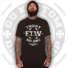 Dragstrip Clothing Trust No One hotrod Lucky 13 tattoo biker rockabilly t`shirt