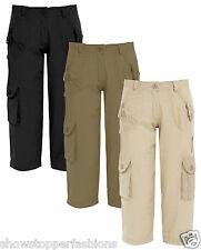 NEW Womens Cotton Pedal Pushers Shorts Capri Size 8 10 12 14 Ladies Pants 3/4