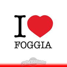 adesivo I LOVE FOGGIA sticker PVC auto moto - Alta Qualità 2 colori