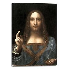 da Vinci salvator mundi design quadro stampa tela dipinto telaio arredo casa