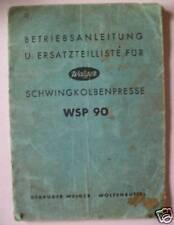 Welger Ballenpresse WSP90 Anleitung + ET-Liste