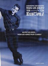 PUBLICITE ADVERTISING  1984   EUROPE 1 radio  CHRISTOPHE DECHAVANNE