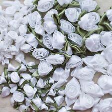 Bridal Blanco Cinta Rosa moños de cinta de rosas blancas o verdes hojas grandes o pequeñas