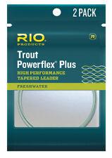 RIO Powerflex Plus Leader 2 Pack - 7.5FT / 9FT / 12ft Sizes