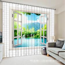 3D Himmel Meer 352 Blockade Foto Vorhang Druckvorhang Vorhänge Stoff Fenster DE