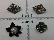 1 spilla metallo o strass perle plexy  italy  artigianale vintage brooch b12
