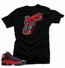 Shirt to match Air Jordan Bred 13s. 9 MM Gun  Black  Tee