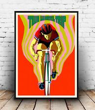 Deux roues voyage vélo vintage. poster reproduction.