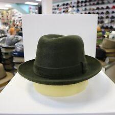 BORSALINO OLIVE GREEN LONG HAIR FUR FELT DRESS HAT *READ DESCRIPTN FOR SIZE