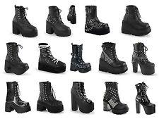 Demonia Women's Platform Vegan Ankle Boots Assault Cramp Dynamite Grip and more