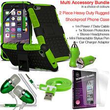 Antiurto Heavy Duty telefono Dual Layer Custodia Cover ✔ valore Accessorio Pack ✔ Verde