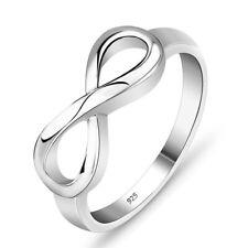 Silber Infinity Ring Unendlichkeit Sterlingsilber 925 massiv ewige Liebe
