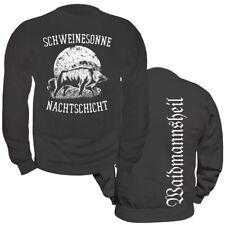 Pullover Sweatshirt Schweinesonne Jäger Jagd Keiler Wildschwein Nachtschicht