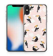 Pretty Parrot Birds Luscious Leaves Polka Dots Pattern Fine Soft Gel Phone Case