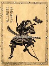 Japanese Reproduction Woodblock set of 3 Life of a Samurai  by Utagawa Kuniyoshi
