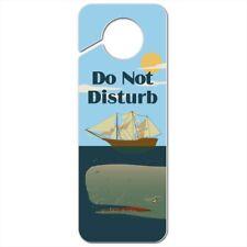 Sperm Whale Under Ship Plastic Door Knob Hanger Sign