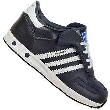 ADIDAS Originals La Trainer Bambini Scarpe Sneaker Blu LEGINK PELLE BIANCA