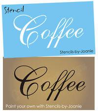 STENCIL Coffee French Script Shabby Cottage Kitchen Work Craft Art Signs U Paint