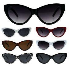 Womens Retro Cat Eye Mod Plastic Goth Sunglasses