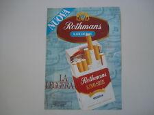 advertising Pubblicità 1982 SIGARETTE CIGARETTES ROTHMANS