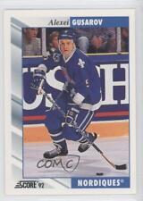 1992-93 Score #264 Alexei Gusarov Quebec Nordiques Hockey Card