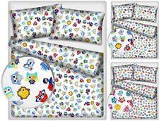 Babybettwäsche - Kinderbetwäsche 100x135+40x60 100% Baumwolle - Eulen