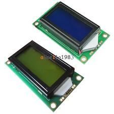 Yellow/Blue 0802 8x2 Character LCD Display Module 5V LCM F Raspberry pi Arduino