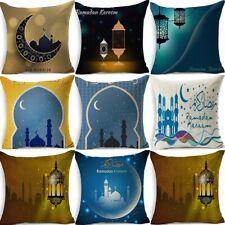 "18"" Muslim Ramadan Print Cotton Linen Cushion Cover Pillow Case Home Decor"