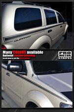 Dodge Durango 2004-2009 SUV Side Accent Stripes Decals (Choose Color)