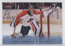 2009-10 Fleer Ultra Ice Medallion 65 Craig Anderson Florida Panthers Hockey Card
