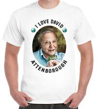 I LOVE DAVID ATTENBOROUGH Camiseta Naturalista medio ambiente verde tierra
