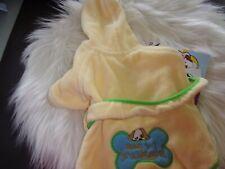 New listing yellow Ready to Snuggle Bath Robe Dog new xsmall Xs new Preschool Puppies xsmall