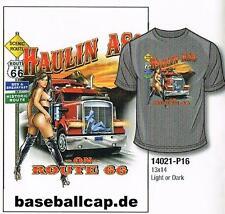 T-shirt #293-9 haulin AAS, Hot Rod dragster, pin up, Trucker, EE. UU., ruta 66