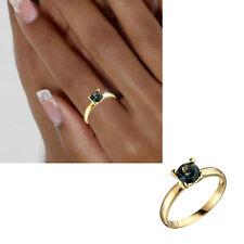 NEU Edelstein Blautopas Damen Ring 585er echt Gold Gelbgold 14 Karat Gr 54 56 58