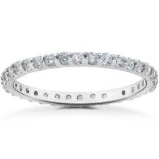 VS2-SI1 7/8 ct Diamond Eternity Ring in 14k Rose, Yellow, White Gold & Platinum