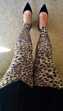 Animal print leggings Cheetah pattern and snake-skin-like fabric texture S/M