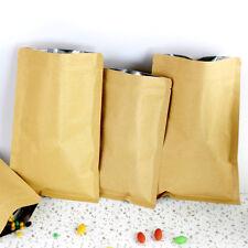 7x10cm Thick Kraft Paper Aluminum Foil Ziplock Bags Retail Package Food Pouch