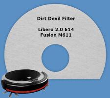 Filter Vlies Dauerfilter Dirt Devil Libero 2 M614 Fusion M611 M610 M613 /0610012