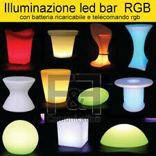 illuminazione LED bar ristorante hotel esterno RGB sgabello cubo tavolo tavolino