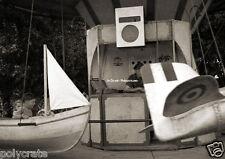 Manège foire bateau avion enfants - repro retirage d'après négatif photo ancien