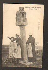 CARNAC (56) CROIX DU TUMULUS DE SAINT-MICHEL , gros plan trés animé